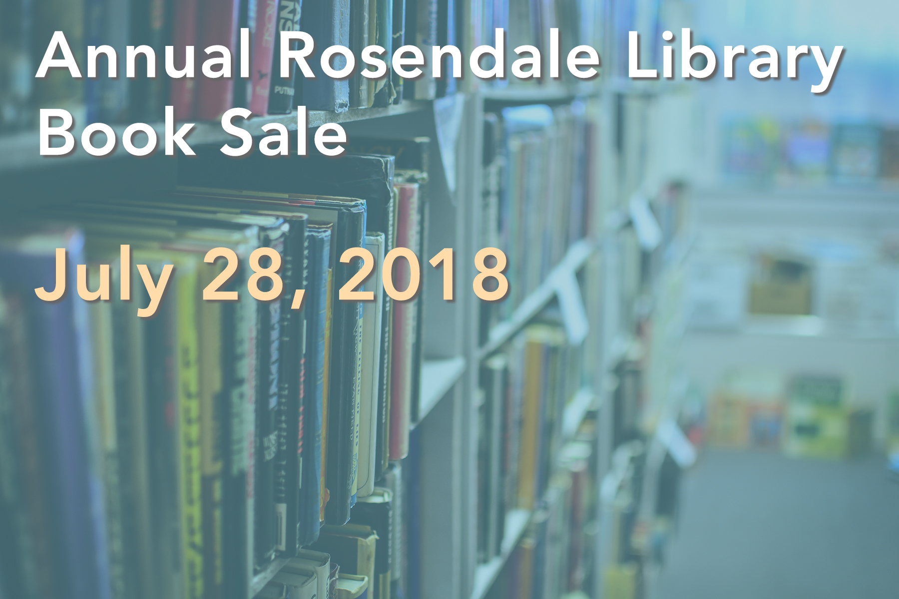 Annual Rosendale Library Book Sale: July 28, 2018